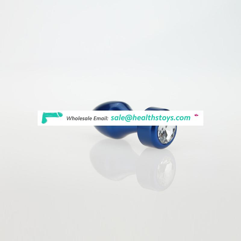 Colorful Aluminium Alloy Fancy Sex Toy Anal Butt Plug for Adult Use