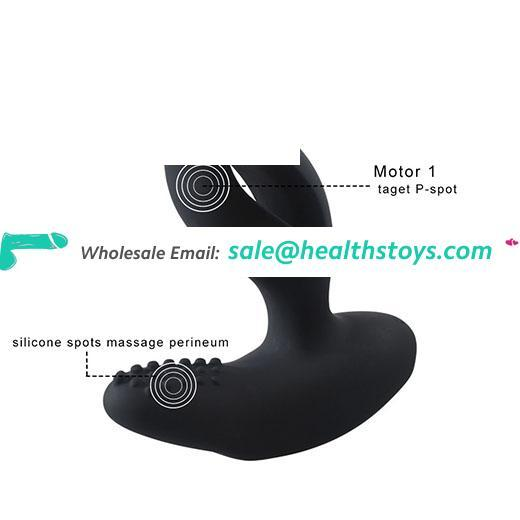 LEVETT Silicone Anal Butt Plug Vibrating Prostate Massager Rechargeable Anal Plug  Vagina G Spot Pussy Clitoris Vibrator