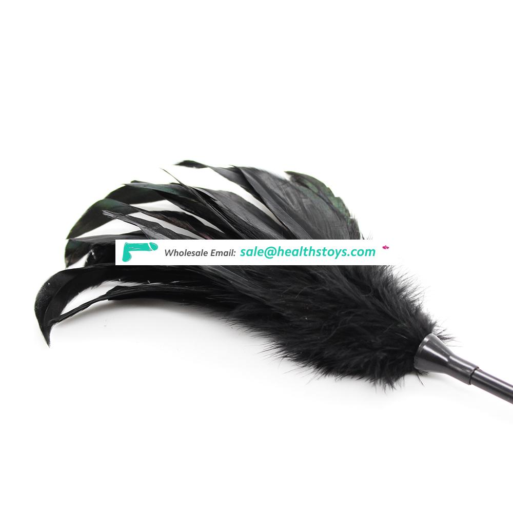 Love Flirting Special Feather Tickler Whip With Leather Slapper Hand Spanking Paddle