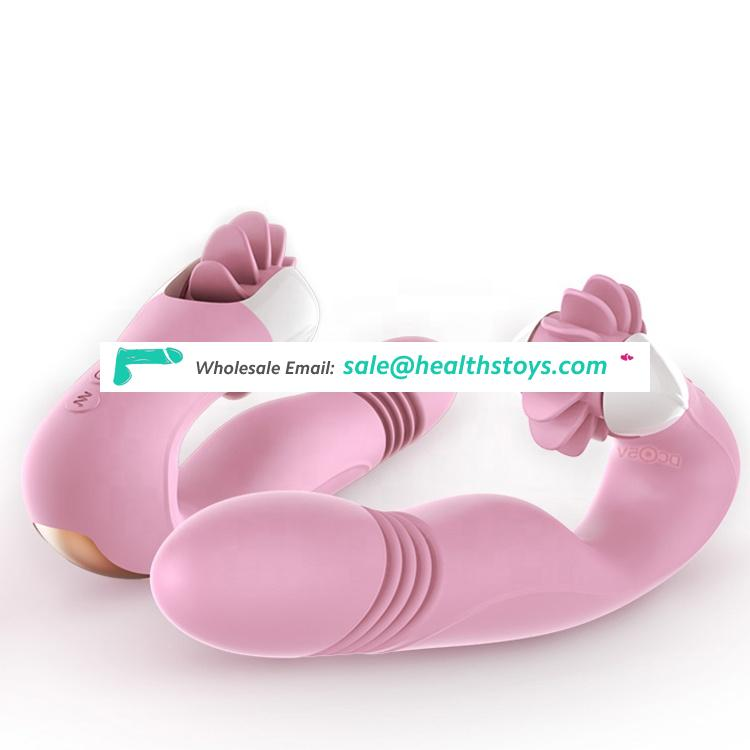 Popular Novelty Private Pleaure Waterproof Sex Tools Dildo Massage Handle Electric Tongue Toy