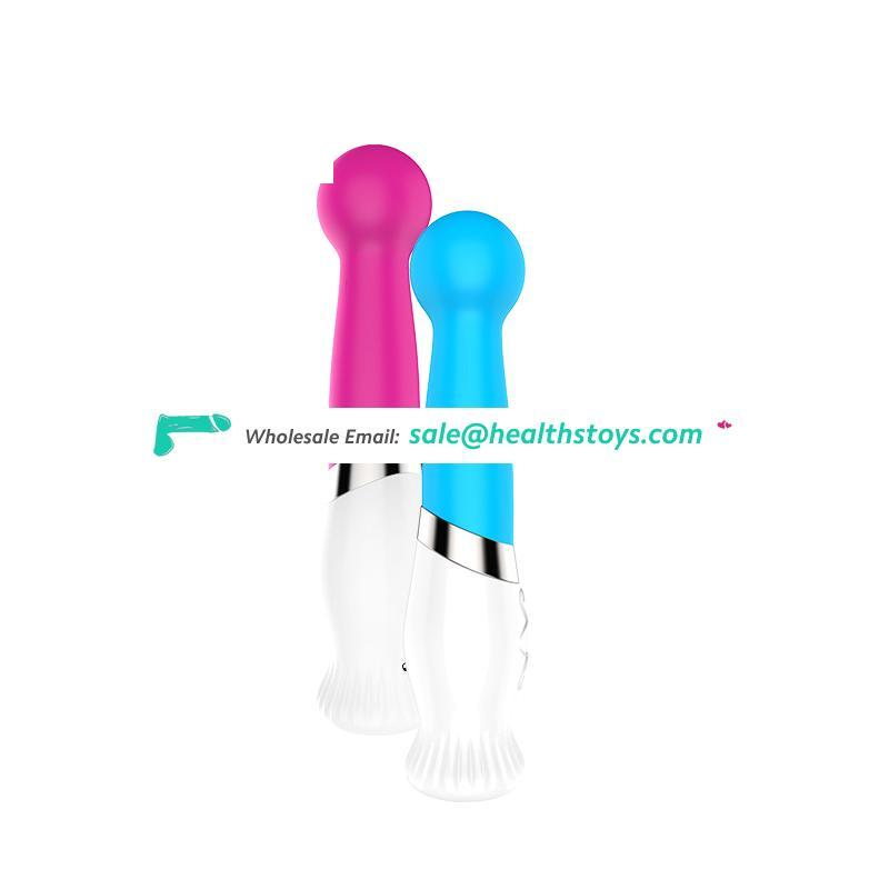 Electronic silicone massager artificial penis sex toy vibrator for girl