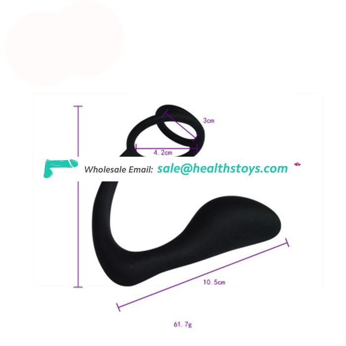 Medical Silicone Double Cock Ring Sex Toy Prostate Massage