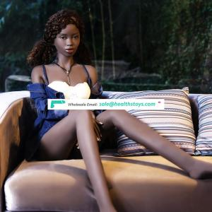 168cm 1.68m Thin Slim Small Flat Boobs Breasts Black African Girl Make Love Doll Real Touch Solid Stimulaitng Sexual Sex Doll
