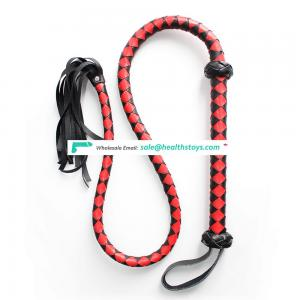 2 Color Choice Willow Design Novelty High Quality Best Sex Game Flirting Long Large Leather Safety Whip