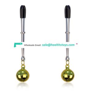 2 Colors Choice High Quality Beautiful Ring Dangle Ajustable Breast Nipple Clamps Clit Set