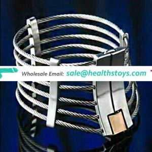2 Sizes Unisex Stainless Steel Locking Bondage Restraint Neck Cuff Collar Unique Choker