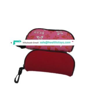 2017 most popular Custom Wholesale neoprene Eyeglass Case zipper closure eyeglass bag