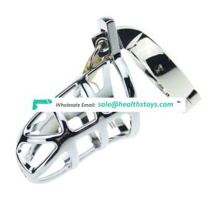 2019 New Product Stainless Steel Metal Public Lock Chastity Cage for Man