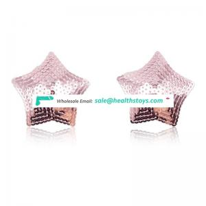 3 Colors Fashion Cute Shinning Bulingbuling Star Pasties Nipple Cover Breast Cover For Girl Ladies Women Show Sexy