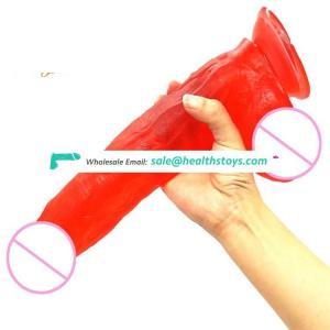 300mm * 55mm 926g Simulation Penis Sex Toy Soft Giant Dildo