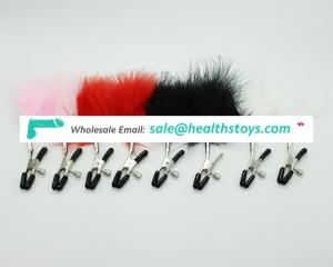 4 Colors Soft Feather Furry Adult Fun Sex Toy For Flirting Nipple Clamps Fetish Nipple Toy