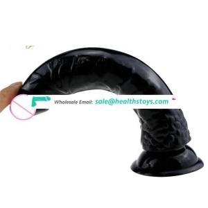 8.3in * 1.4in 238g Black Sex Toys PVC 8 Inch Anal Dildo