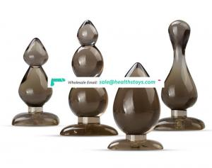 Beautiful 4 Shapes 4pc Set Soft TPR Brown Anal Plug Can Be Sold Seperately For Ault Stimulation Butt Plug