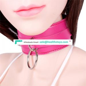 Big Wide Leather Collar Slave Shock Choker Bondage Restraint Neck Corset Collar