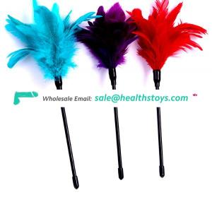Bird Feather Beautiful Flower Shape Feather Tickler Feather Erotic Adult Toys Small Bondage Gear
