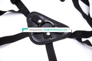 Black Adjustable Adult Sex Toys With Dildo Or Not Sexy Hollow Nylon And Leather Strap On Harness Belt Chastity Underwear Pants