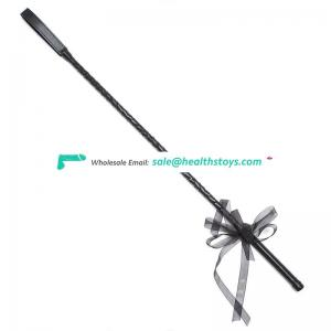 Black Bow Lace Knot Leather Teaching Crop Paddle