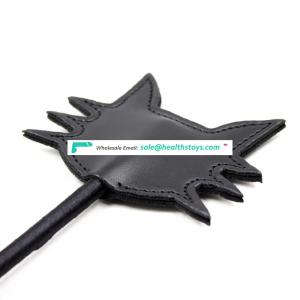 Black Cate Leather Teaching Crop Spanking Paddle