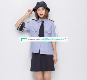 Blue Shirt Black Skirt Uniform Costume