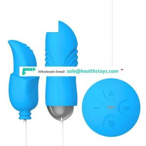 Blue Waves-Oral Silicone Material Heating Double Vibrating Egg