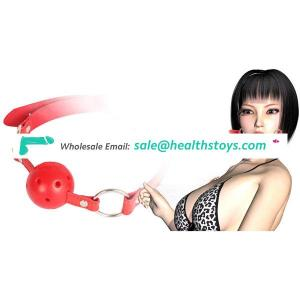 Bondage Fetish Toys Stainless Steel Open Mouth Ball Gag/Mouth Restraint For Couple