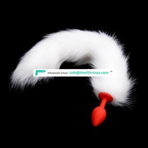 Butt Plug White Fox Tail Silicone Butt Plug Soft Anal Plug Hot Sell Ass Plug Masturbation Sex Toy