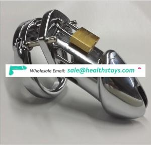 CB6000 Metal Male Chastity Device High Quality Silver Metal Cock Cage