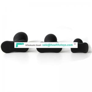 Canvor Medical Silicone Popular 3 Different Size Black Color Butt Plug