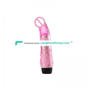 Cheap Battery recharge TPE Vibrating Penis 20 cm 2 pieces AAA battery electric dildo
