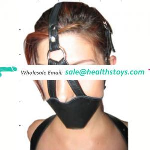 Cheap Tiny Sex Toy Pointed Mouth Circular Ring Head Belt With Ball Gag Mouth Gag Inside Mouth Cover Mask