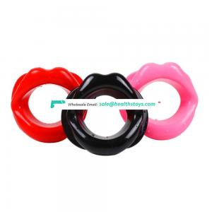 Cheapest Factory Price Soft Silicone Contain Lip Sex Funny Mouth Type Sexy Restraint Toy Open Mouth Lip Gag