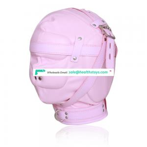 Coloful Leather Full Sealed Head Hood With Two Nose Air Holes And Locks Hood