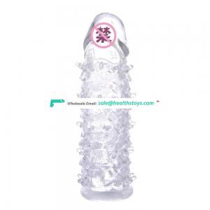 Crystal Soft Jelly Spike Cock Enhance Sleeve Penis Extension for Men