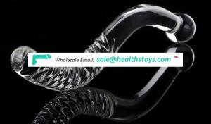Crytal Glass Curved Long Masturbation Sticker For Female To Increase Delighting