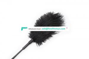 Detachable Ostrich Feather Teaching Crop For Fun Game Love Game Toys Soft Paddle Furry Flirting Tickler