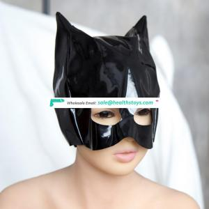 Enamel Leather Eyes Open Party Funny Face Mask Half Face Flirting Gorgeous Cat Queen Hood