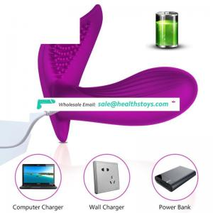 Factory Directly Supply Cheap Price Wireless Remote Controlled Strap on Butterfly Vibrator for Woman