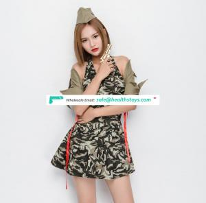 Fascinations Halloween Camouflage Costume WIth Hat Waistcoat