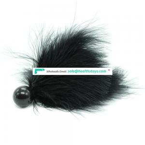 Feather Tickler With Plstic Ball Cute Fancy Tease High Pleasure Alternative Flirting Play Toy Tickler