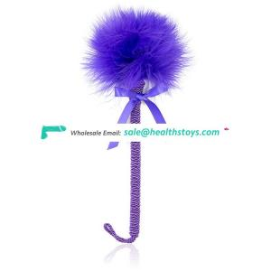 Furry Feather Tickler Romantic Suede Handle Funny Fetish Kinky Naughty Bondage Fancy Flirting Toy