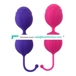 HOT SELL Rose Pattern Silicone Sexy Woman Exercise Training Ball Kegel Ball