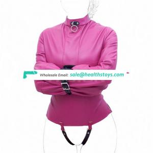 High Quality Leather Top Body Full Harness Restraint StraitJacket