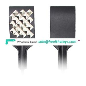 High Quality Rivet Studded Funny Spanking Paddle Teaching Square Crops