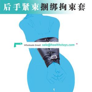 Hot Fashion Slave Arm Cuffs Restraint PU leather Arms Bound Costumes Arms Restraint Bag Bondage Toys