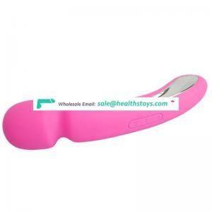 Hot sell on amazon 20 speed vibration soft silicone penis women wand vibrator