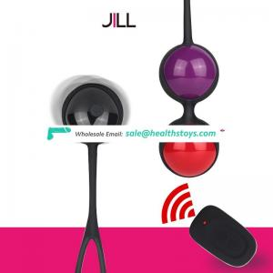 LEVETT Safe Silicone Smart Ball Vibrator Kegel Ball Sex Toy for Women Ben Wa Ball Vagina Remote Control Love Egg Vaginal Geisha