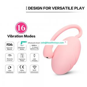 LEVETT Vaginal Massager Vibrating Kegel Balls for Woman Rechargeable Remote Control Love Egg