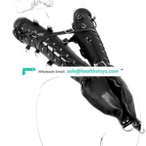Latest Long Arm Restraint Gloves in Pair and Can be Restrainted Together by Belts New Item Arms Restraint Harness Cuffs