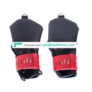 Locking Leather Adjustable Bondage Gloves Sexy Handcuffs