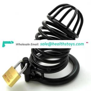 Male Keyholder Chastity Cage Black Metal Cock Cage Sex Toys